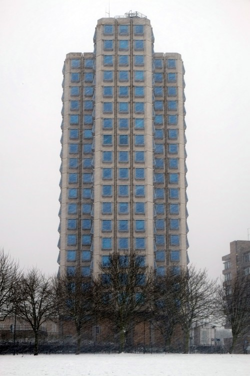 Attenborough Tower. Leicester, January 2013.