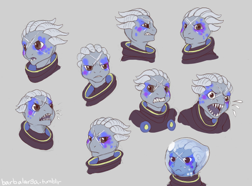 drawings for icons of a screamy mad shark alien