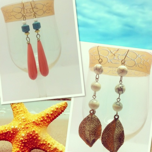 Handmade earrings that i lurvee!