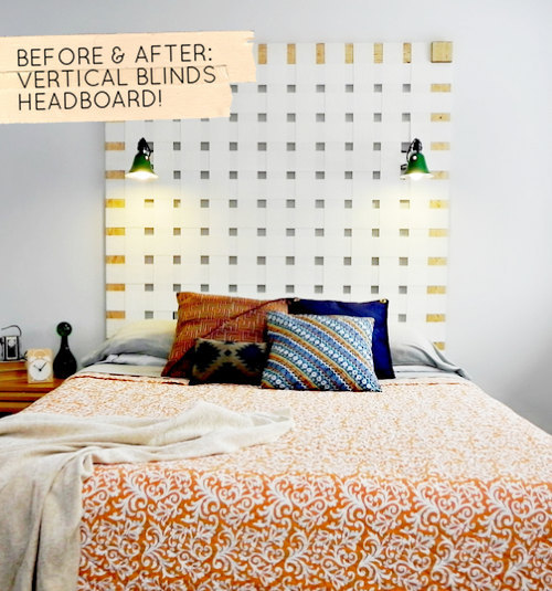 BEFORE & AFTER: VERTICAL BLINDS HEADBOARD