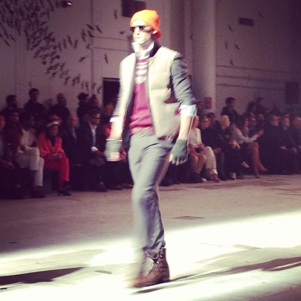 A bit of classic #MichaelBastian thrown into the mix #nyfw #attheshows  (at Mercedes-Benz Fashion Week)