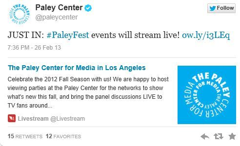 The New Normal At Paley Center on March 6.When I get details of livestream i will post