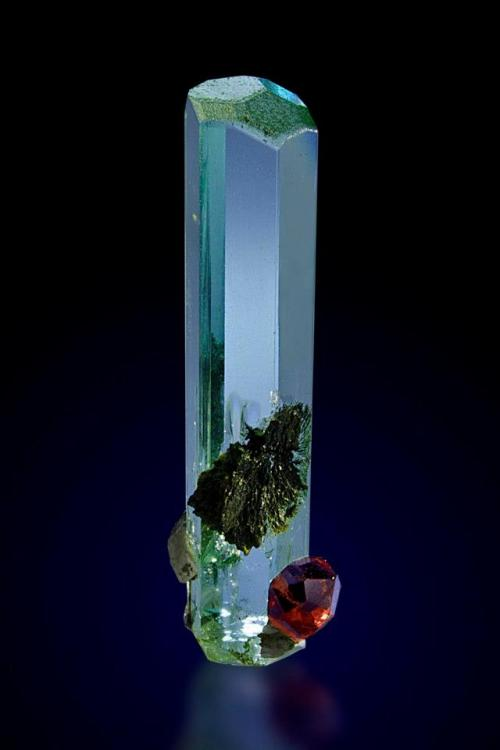 wolfganggc:  Aquamarine with Spessartine. Pakistan