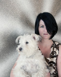Here is a very cool portrait of American Sculptor TARA DONOVAN & doggie….