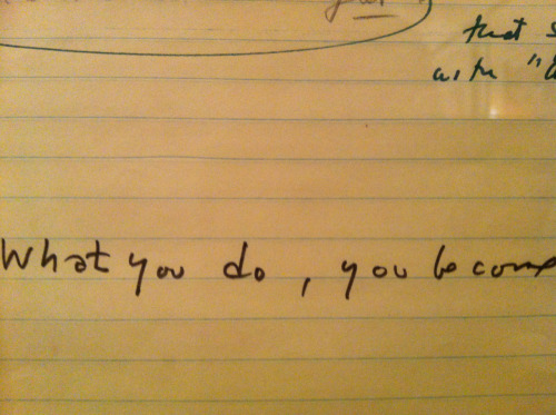 mattfractionblog:  from Kubrick's notebooks on FULL METAL JACKET: the perfect articulation of *how do i become a _____?*