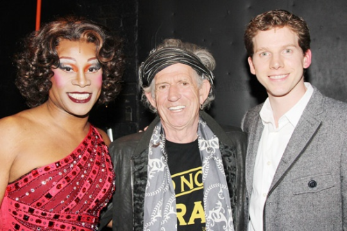 Rock icon Keith Richards congratulates Kinky Boots stars Billy Porter and Stark Sands.