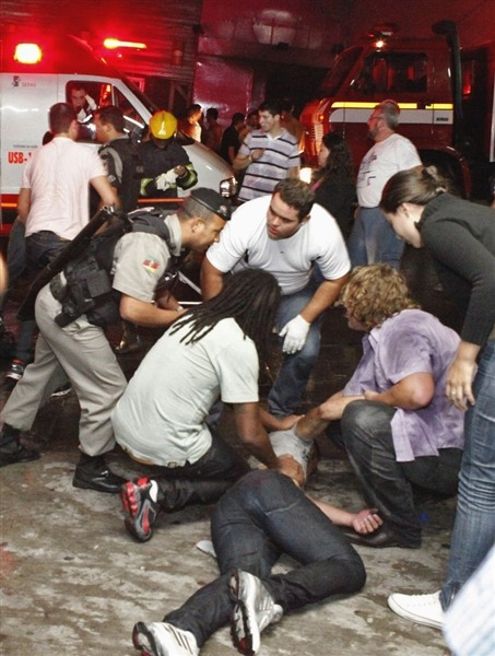 Police: Brazil nightclub fire kills at least 245 (Photo: Agencia RBS via AP) PORTO ALEGRE, Brazil - Local police told NBC News that at least 245 people were killed in a nightclub fire in southern Brazil on Sunday after a band's pyrotechnics show set the establishment ablaze, and fleeing patrons were unable to find the emergency exits. Read the complete story.