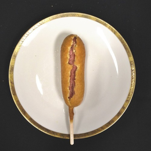 My corn-dog is Harry Potter #foodgram