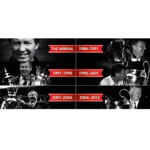 The best manager ever!! #ThankYouSirAlex #ManchesterUnited