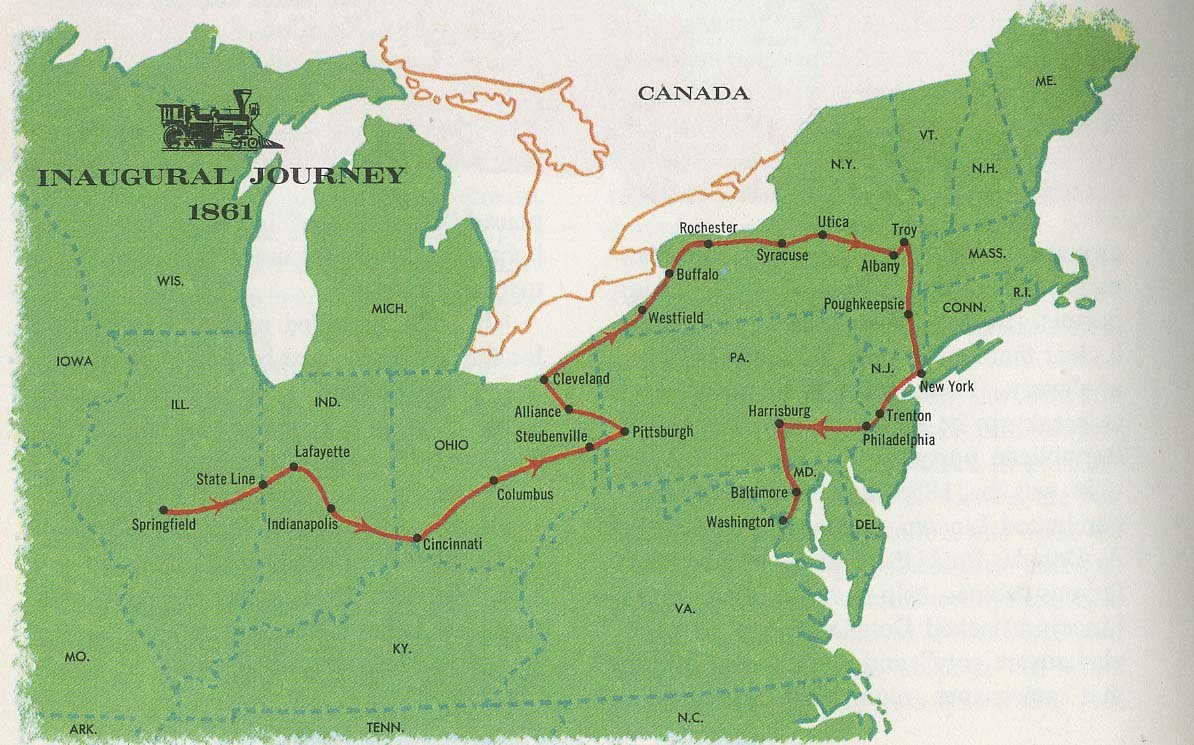 explore-blog:  Abraham Lincoln's inaugural train route, on which he swiftly avoided assassination.