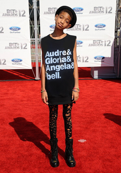 """As if we needed it—yet another reason Willow Smith is super cool!"" [Audre Lorde, Gloria Anzaldúa, Angela Davis, & bell hooks]"
