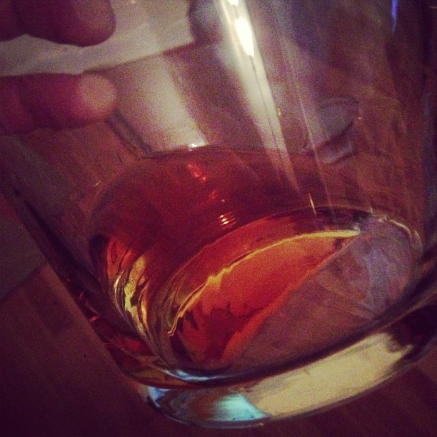 Abstract photo, yes. Pappy Van Winkle 20 yr old bourbon? That's a yes, too.