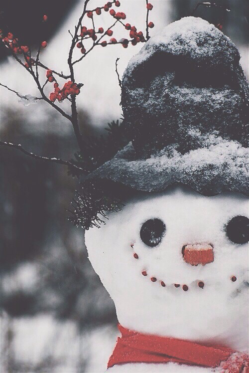 And a snowman on the background tumblr - Winter tumblr wallpaper ...