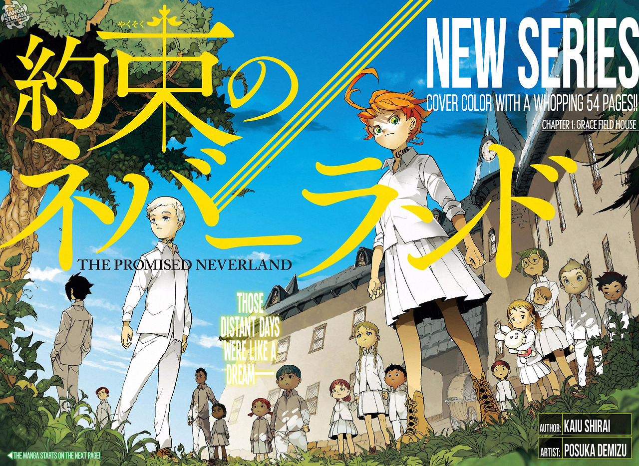 Manga Diaries The Promised Neverland Color Spreads And Pages
