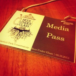 My first media pass. Great night.  #BeerUnderGlass #BUG #CCBW #chicagobeer #chicagobreweries #beer