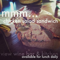 Yet another #delicious #lunch #menu item! #chickensaladsandwich  (at view wine bar & kitchen)