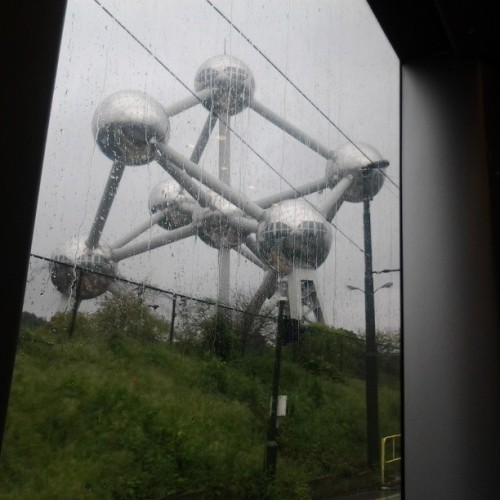 """Lovely"" weather, no time = Atomium from the far"