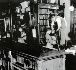 "lostsplendor:  ""Clifton College boys helping to move the library during the war."" Bristol, World War II (by brizzle born and bred)"