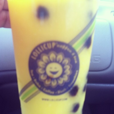 Finally, FINALLY! I got my boba! Gosh, it has been forever since I had one! Mango Slush with Boba, ftw! #Boba #MangoSlushBoba #Lollicup #Yum #AsianInvasion #merp  (at Lollicup Ontario)