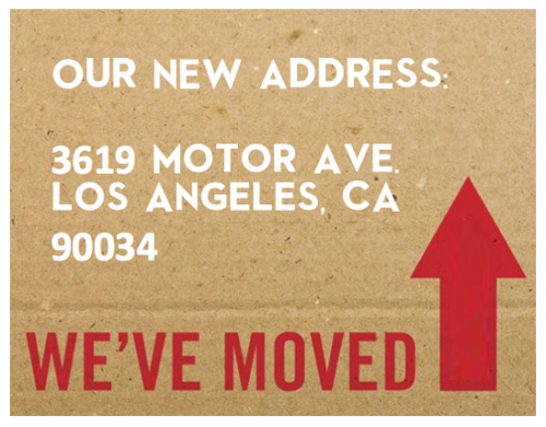 We have a new office, so please update your records accordingly!