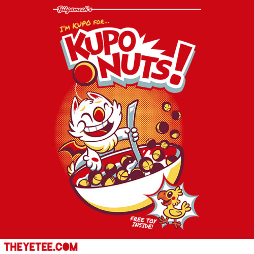 theyetee:  Kupo Nutsby Kari FryDon Corne-O'sby PinteezyBoth $11 on 02/20 on at The Yetee