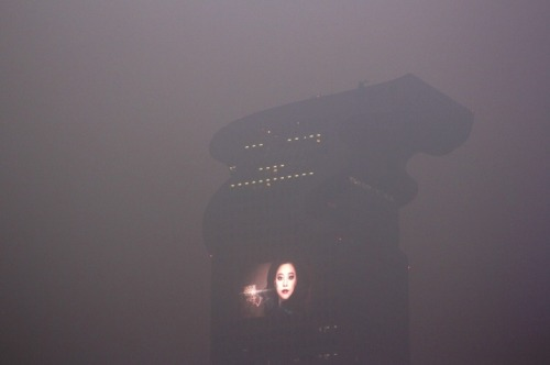 This is not a still from Blade Runner, it's a picture of Beijing through choking smog. Photo taken by @martyhalpern.