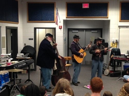 "Yesterday a civil war reenactment trio came and played for our 7th grade music students. They were funny, educational, and very interactive. The kids all had the ""this is so awesome"" face."