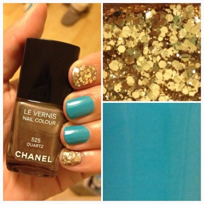 Can't go wrong with glitter and Chanel.. #NOTD