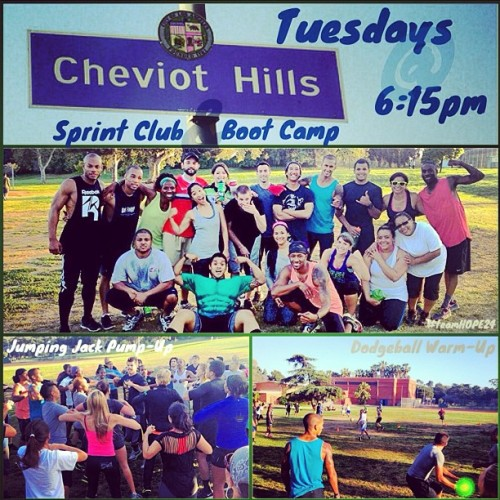 It's Tone Up Tuesday at Cheviot Hills Park!!! It's going to be GOOOOOOOOOD!!! #teamhope24 #sprintclub #bootcamp #toneup #tuesday  (at Cheviot Hills Park)