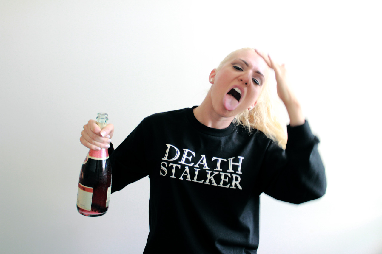 The one and only Chlorinebleachh in the Death Stalker long sleeve by our fam over at @premiumdivision. Thanks for the care package and the Belly tee! Check them out.