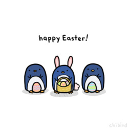 chibird:  Penguins and easter eggs~ >u<