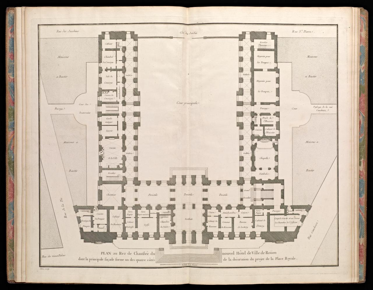 Ground floor plan of the new City Hall, Rouen