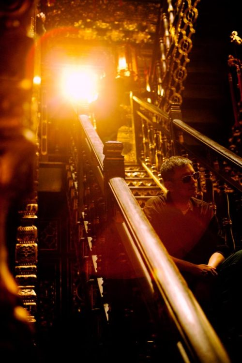cinemastatic:  Wong Kar Wai on the set of The Grandmaster