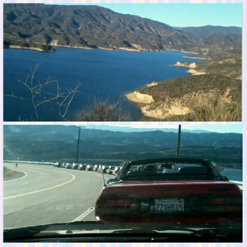 Car cruisin' it. @michael_6260 #castaiclake #canyons #firsttime #funday #cars