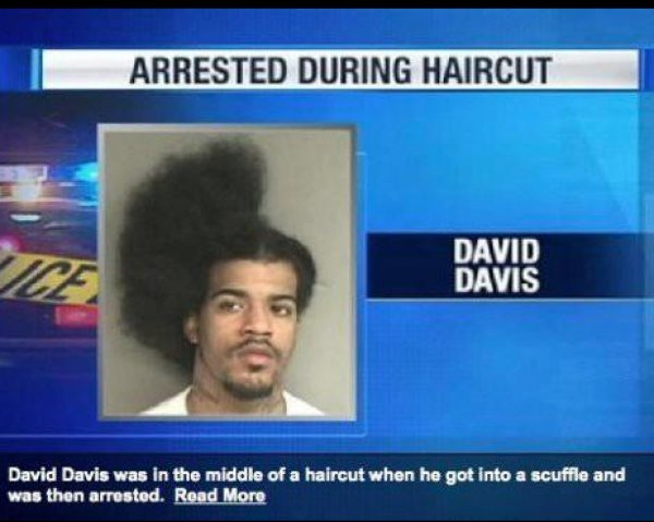 collegehumor:  David Davis: Arrested During Haircut Look for this sick 'do on the next season of Girls.