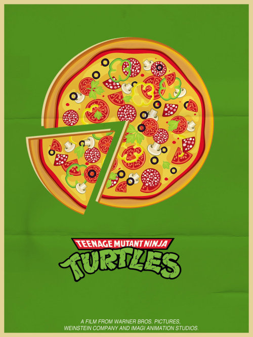 pizza-party:  minimalmovieposters:  Teenage Mutant Ninja Turtles by samurai-gr  There's a theme to today's tumbles, I think…