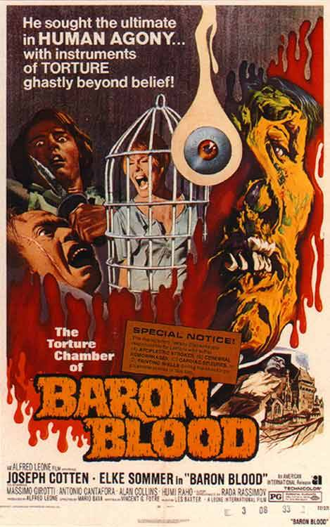MONDAY MINI-REVIEW: Baron Blood (aka Gli orrori del castello di Norimberga, 1972) In this Mario Bava take on the Vlad the Impaler story, Joseph Cotten earns a rent check and gets a…View Post