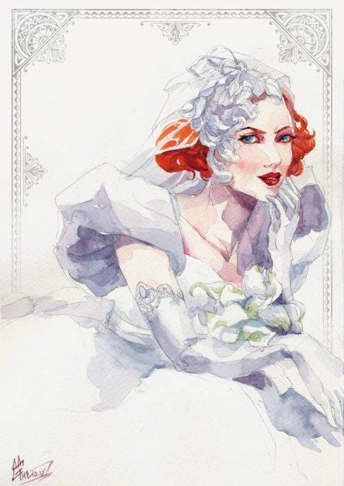 natashanikita:  WIDOW BRIDE by ~agathexu
