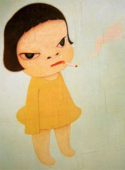 minusmanhattan:  Too Young to Die by Yoshimoto Nara.