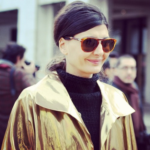 Vogue L'uomo's editor Giovanna Battaglia.  @ New York Fall/ Winter 2013 Fashion Week Photo: by myself