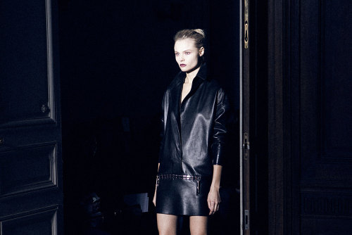 Magdalena Frackowiak at Anthony Vaccarello F/W 2013