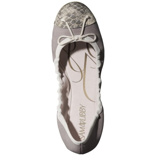 platinumpj:  Women's Sam & Libby Bree Ballet Flat - Grey   ❤ liked on Polyvore (see more ballet shoes)