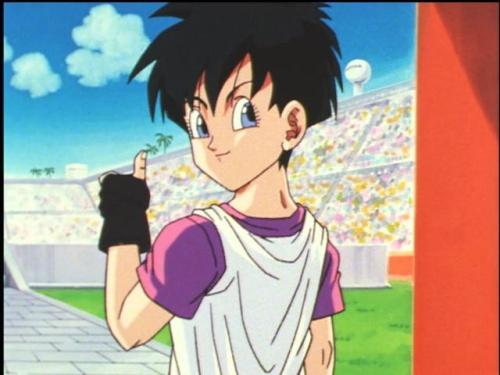 "djkalteraphine:  Videl says, ""You're super cool!"""