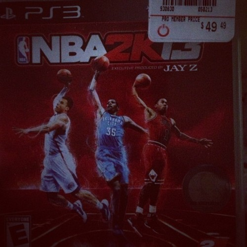 Ladies and gentleman … THE CHAMP IS HERE!!! #NBA2k13 #king #champion #anybodycangetit #ps3