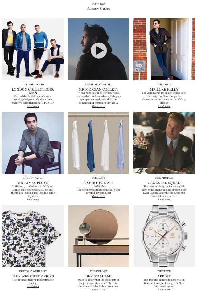 "The Journal | New Issue  This week, we take a look at some of the key pieces from Givenchy & Alexander McQueen's new season, talk to the stylist behind Mr Ryan Gosling's character in ""Gangster Squad,"" learn a bit about the designers behind the MR PORTER London Collections collaboration, & more.  Read Now> http://bit.ly/UDVLa2"