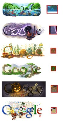 9gag:  Hidden try forces in google doodles  O: