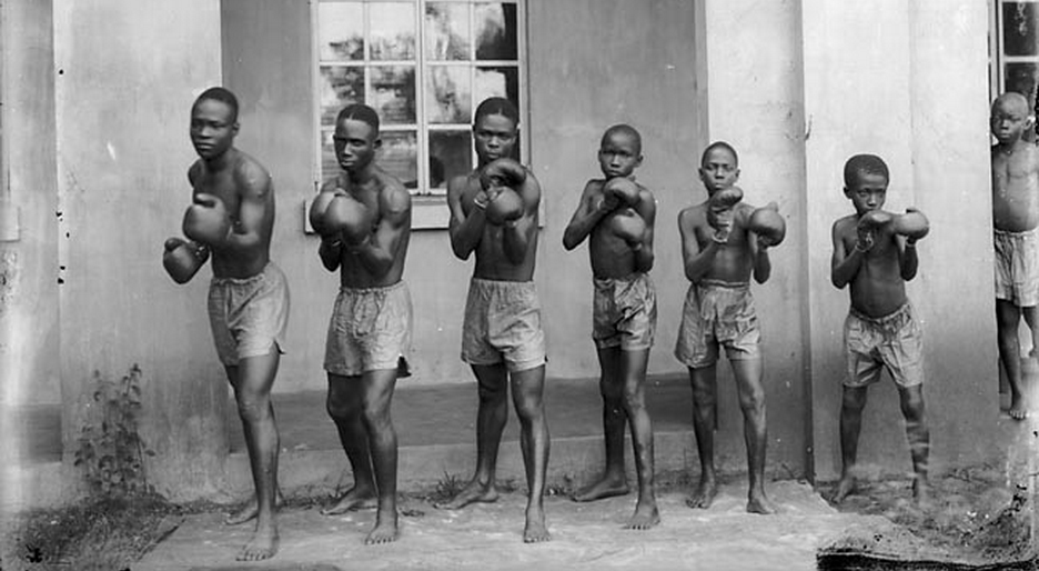 J.K. Bruce Vanderpuije (1899-1989) The Achimota School Boxing club 1933 (and an early photobomber), Ghana In A Sentimental Mood by Duke Ellington and John Coltrane on Grooveshark