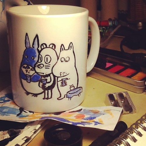 Didn't fancy buying a moomin mug so I made my own…now I must never wash it/touch it