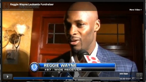 Just how AWESOME is Reggie Wayne? Pro Bowl wide receiver hosts a $500/plate and auction fundraiser for the Leukemia & Lymphoma Society in Indianapolis.