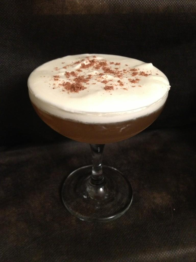 From Gastroposter Zak Fiddes:  Scotch and whipped cream topped with nutmeg.